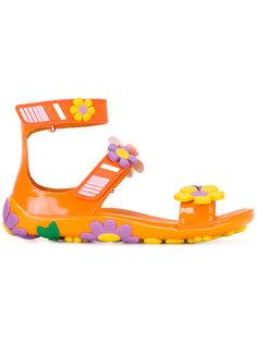 сандалии с цветочными элементами Prada