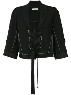 lace-up cropped jacket  Victor Alfaro
