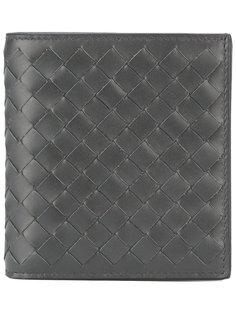 складной кожаный плетеный кошелек Bottega Veneta