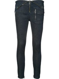 fold-over waist cropped jeans Rta
