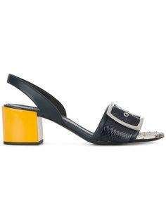 snakeskin effect buckled sandals Jil Sander