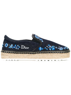 джинсовые эспадрильи с вышивкой Dior