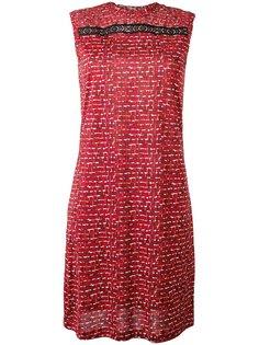 платье с мелким узором Bottega Veneta