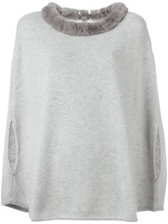 furry collar top  N.Peal
