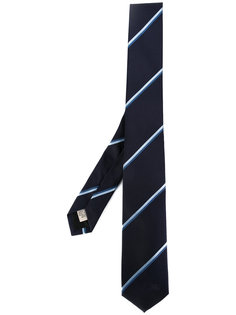 галстук в диагональную полоску Burberry