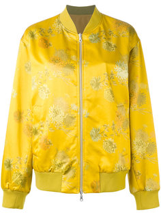 куртка-бомбер  с вышивкой Dries Van Noten
