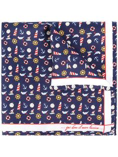 nautical print pocket square Fefè