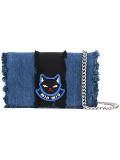 джинсовая сумка через плечо Miu Miu