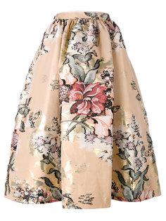 юбка миди с цветочной отделкой  Fendi