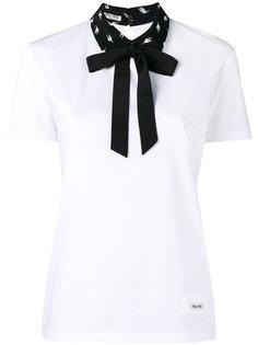 футболка с бантом Miu Miu