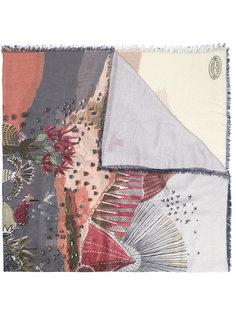 шарф с абстрактным принтом Valentino