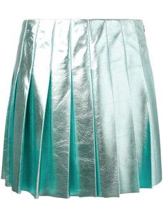 юбка с эффектом металлик Miu Miu