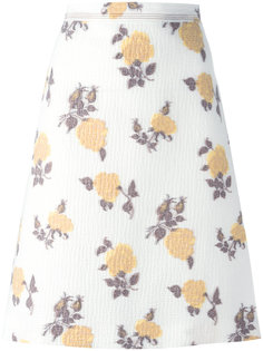 юбка А-силуэта с цветочным принтом Céline