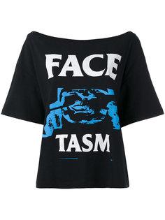 logo print T-shirt  Facetasm