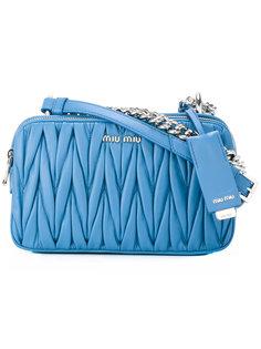 стеганая сумка через плечо Miu Miu