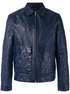 куртка с мятым эффектом, воротником и карманами Prada