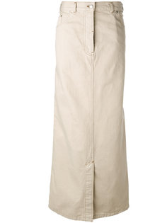 длинная юбка прямого кроя Dries Van Noten