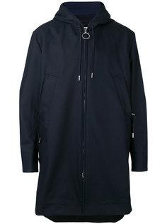 пальто миди с капюшоном на молнии Acne Studios