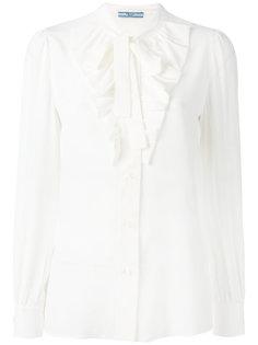 блузка с завязкой на мягкий бант Prada