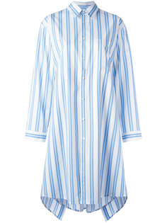 полосатое платье-рубашка Balenciaga