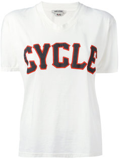 v-neck print T-shirt Cycle