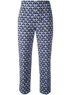 укороченные брюки с узором Prada