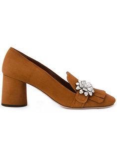 туфли-лодочки с бахромой Prada