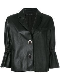 укороченная куртка с оборками на рукавах Drome