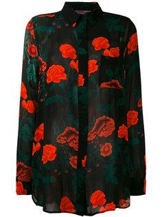 рубашка с цветочным принтом Ganni