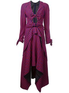 платье миди с узлом спереди Proenza Schouler