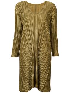 платье с V-образным вырезом Pleats Please By Issey Miyake