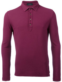 longsleeved polo shirt  Zanone