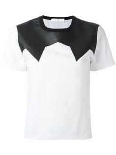 футболка со вставкой с эффектом кожи Neil Barrett