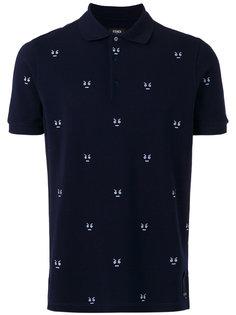 футболка-поло с вышивкой Fendi