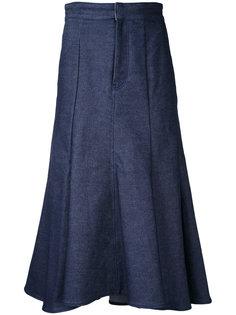 джинсовая юбка клеш Le Ciel Bleu