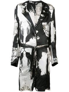 пальто с абстрактным принтом Ann Demeulemeester