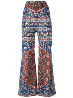 расклешенные брюки с цветочным принтом Mes Demoiselles