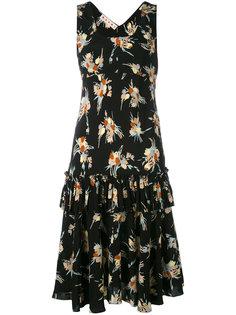 платье с оборкой и принтом Rustle Marni
