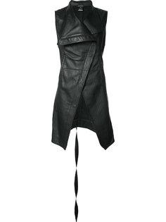 асимметричная куртка без рукавов Ann Demeulemeester