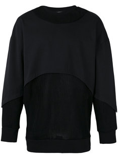 layered panel sweatshirt  Les Benjamins