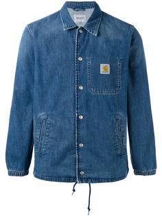 однобортная джинсовая куртка  Carhartt