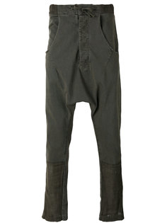 брюки с заниженным шаговым швом  Andrea Yaaqov