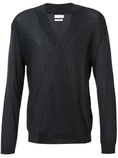 свитер V-образным вырезом с запахом Deveaux