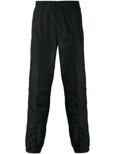 брюки с присборенными манжетами Versace