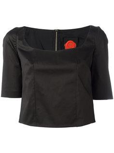 """укороченная блузка с вырезом """"сердце"""" Ultràchic"""