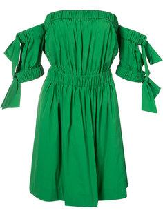 приталенное платье с открытыми плечами Milly