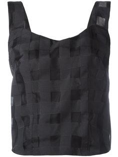 блузка без рукавов в клетку Ultràchic