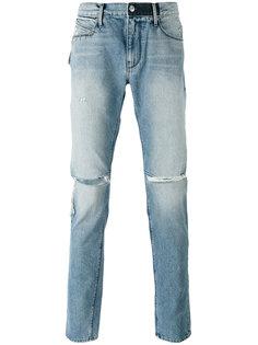 джинсы с потертой отделкой Rta