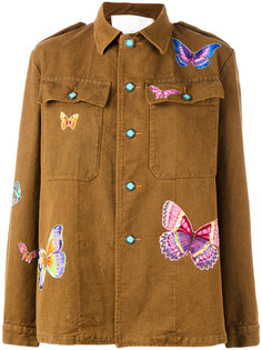 куртка с заплатками в виде бабочек Giada Benincasa