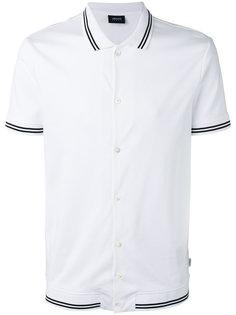 футболка-поло с отделкой в полоску Armani Jeans